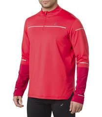 Asics Lite Show Winter Ls 1/2 Zip Top рубашка беговая мужская красная