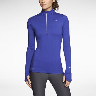 Футболка Nike Element H/Z (W) /Рубашка беговая синяя - 3