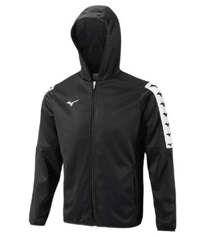 Mizuno Nara Bonded Hooded Jacket ветровка для бега мужская черная