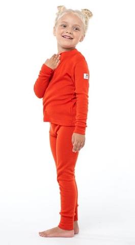 Janus Prince or Princess Wool комплект термобелья детский апельсиновый