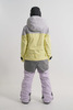 Cool Zone VIBE комбинезон для сноуборда женский серый-лимонный - 4