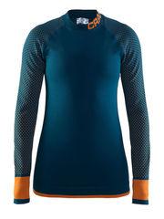 Термобелье женское Craft Warm Intensity рубашка темно-синяя