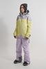 Cool Zone VIBE комбинезон для сноуборда женский серый-лимонный - 2