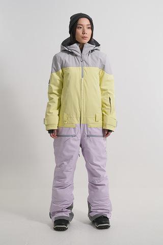 Cool Zone VIBE комбинезон для сноуборда женский серый-лимонный