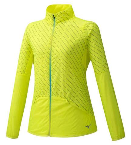 Mizuno Reflect Wind Warmalite костюм для бега женский желтый-черный