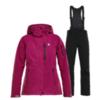 Горнолыжный костюм женский 8848 Altitude Folven Poppy фуксия-черный - 1