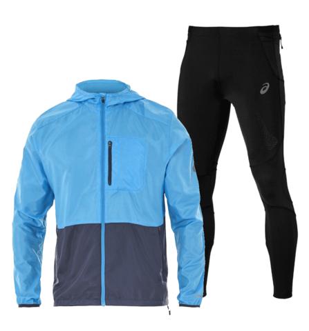 Asics Packable M's FujiTrail мужской костюм для бега голубой