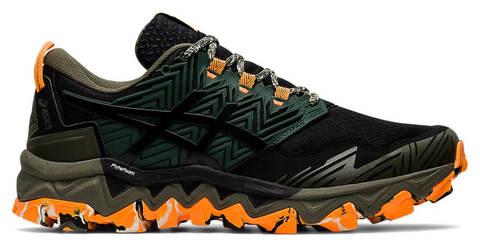 Asics Gel Fujitrabuco 8 кроссовки внедорожники женские черные-оранжевые