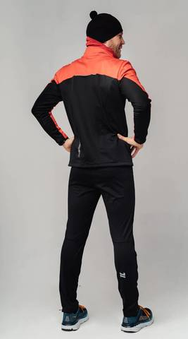Nordski Active Base мужской беговой лыжный костюм red-black