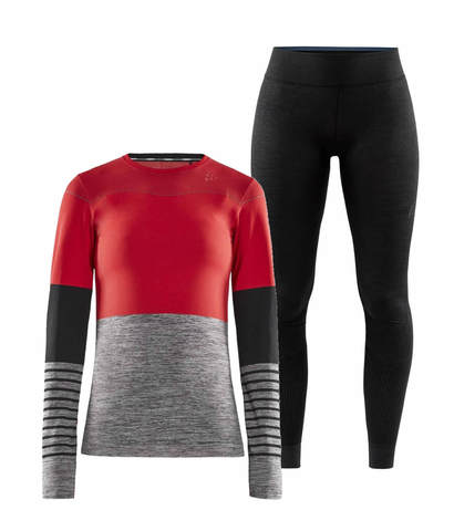 Craft Fuseknit Comfort Blocked комплект термобелья женский red-black