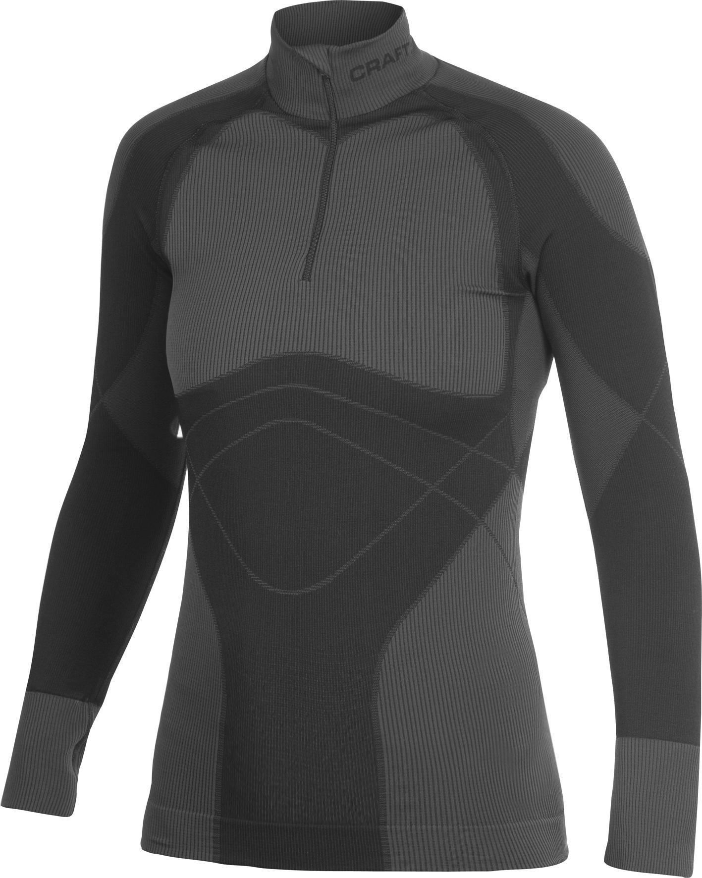 Термобелье Рубашка Craft Warm Zip женская темно-серая
