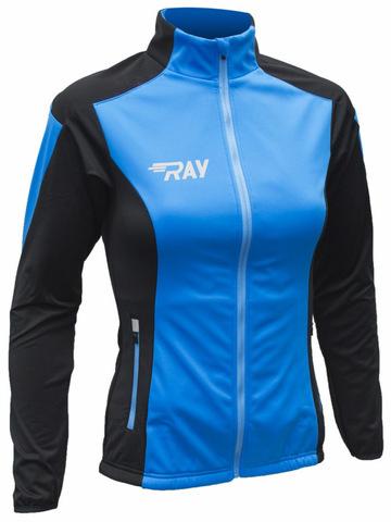 RAY WS Pro Race разминочная куртка женская light blue