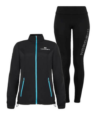 Nordski Motion Elite костюм для бега женский light blue-black