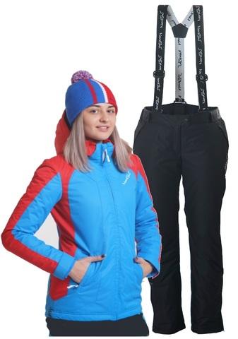 Nordski National Premium утепленный лыжный костюм женский Blue