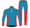 Nordski Active лыжный гоночный комбинезон синий-красный - 2