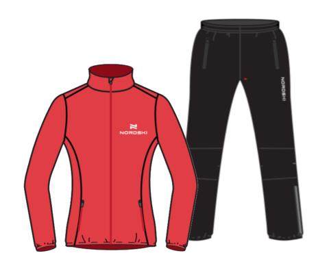 Nordski Motion Premium костюм для бега женский Red