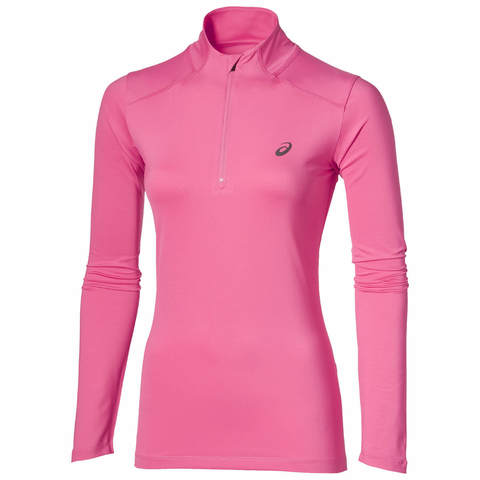 Рубашка для бега женская Asics Ls 1/2 Zip розовая