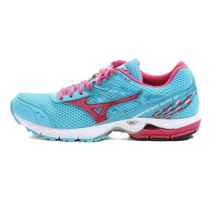 Mizuno Wave Aero 12 кроссовки для бега женские blue - 4