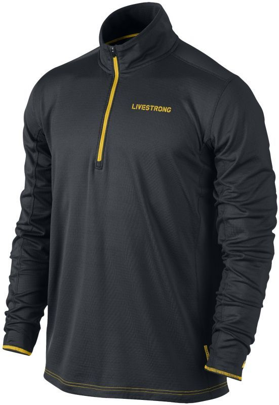 Футболка Nike Grid 1/2 Zip Top /Рубашка беговая чёрная