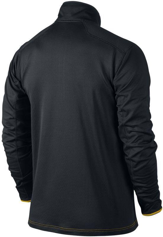 Футболка Nike Grid 1/2 Zip Top /Рубашка беговая чёрная - 2