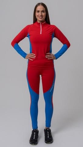 Nordski Jr Active детский лыжный комбинезон red-blue