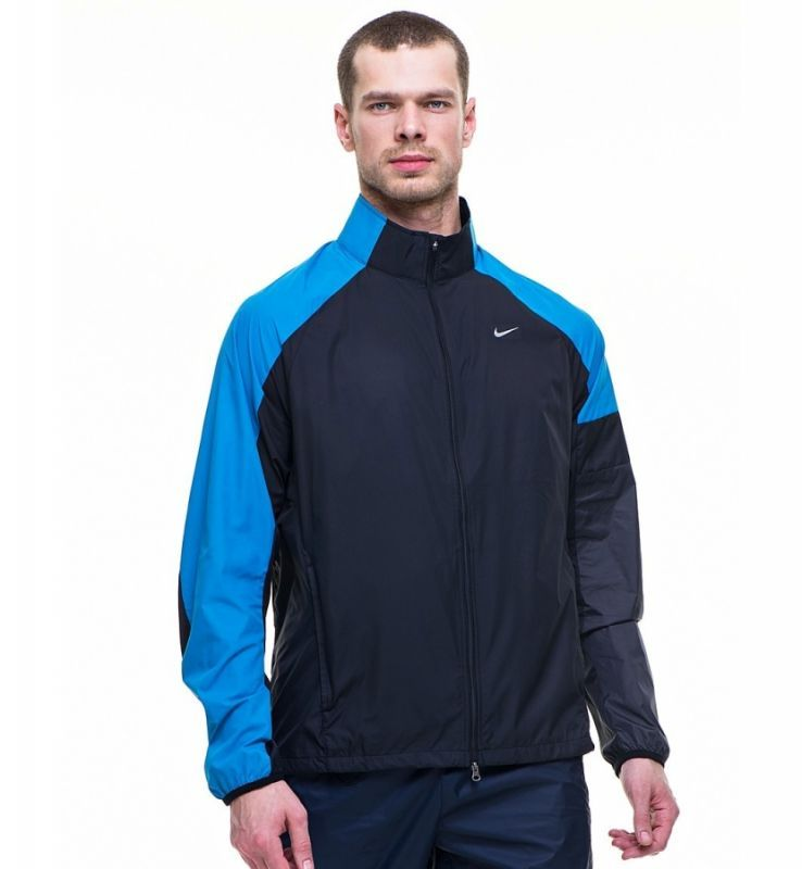 Ветровка Nike Windfly Jacket чёрно-голубая