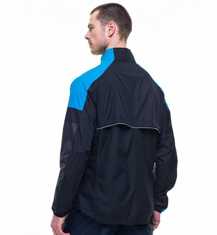 Ветровка Nike Windfly Jacket чёрно-голубая - 4