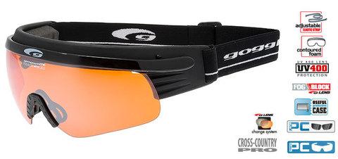 Лыжные очки-маска goggle линия Shima black/orange