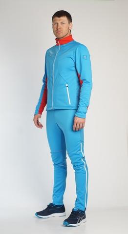 Nordski National мужской разминочный костюм голубой