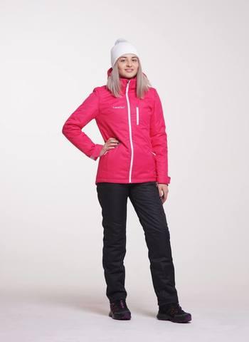 Nordski Active для девочек утепленный лыжный костюм черный-розовый