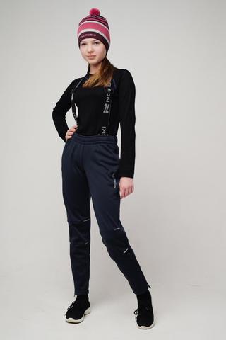 Nordski Jr Premium разминочные лыжные брюки детские blueberry