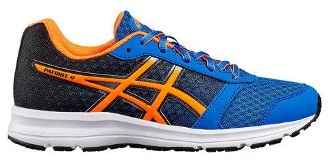 Asics Patriot 9 GS кроссовки для бега детские синие-оранжевые