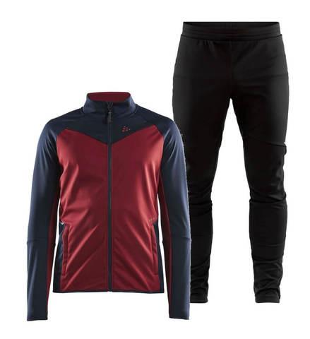 Craft Glide XC лыжный костюм мужской бордовый-черный
