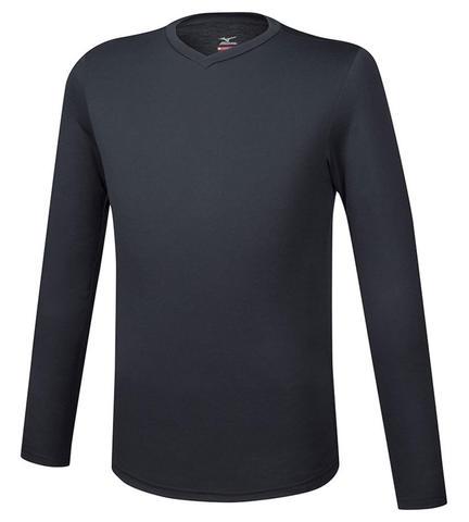 Mizuno Bt Under V Neck Ls термобелье рубашка мужская черная