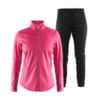 Craft Warm Storm 2.0 женский костюм для бега зимой черный-розовый - 1