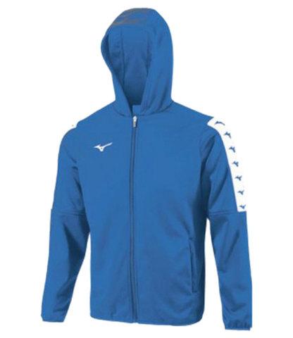 Mizuno Nara Bonded Hooded Jacket ветровка для бега мужская синяя