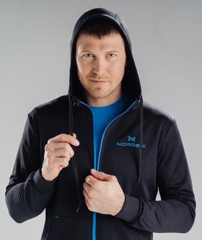Nordski Hood Base спортивный костюм мужской black-blue