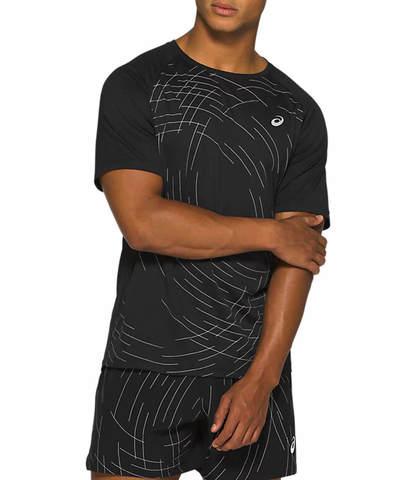 Asics Night Track Ss Top футболка для бега мужская черная