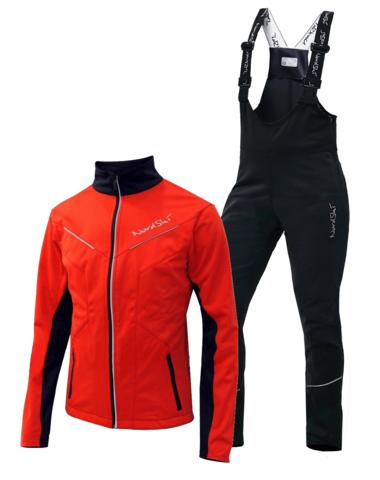Nordski Premium Active мужской лыжный костюм red