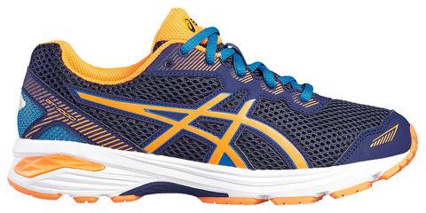 Asics Gt 1000 5 Gs беговые кроссовки подростковые синие-оранжевые (Распродажа)