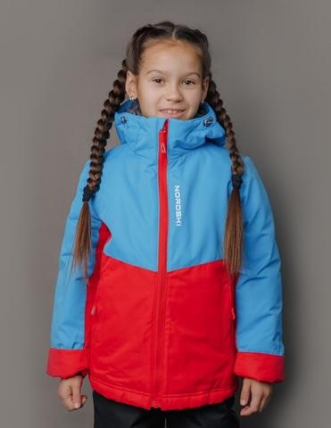 Nordski Kids Montana утепленный лыжный костюм детский blue-red