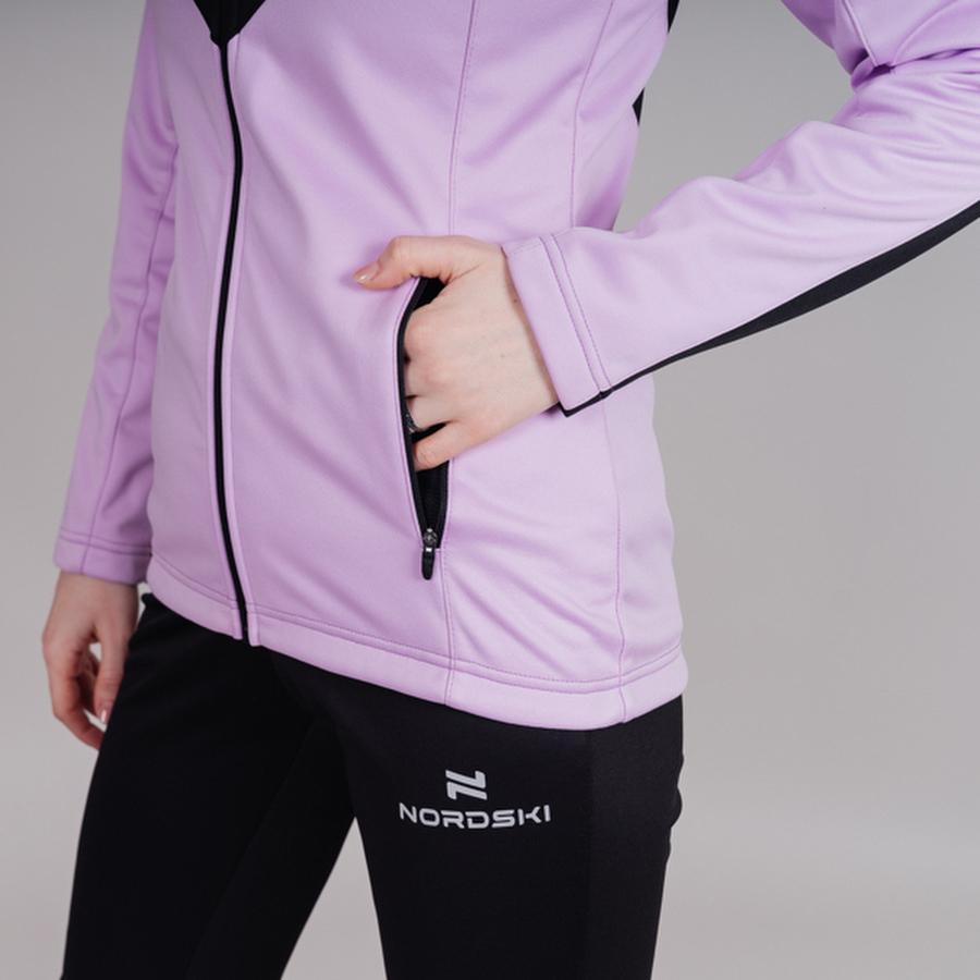 Nordski Base тренировочная куртка женская orchid - 4