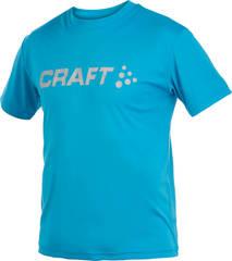Футболка Craft Active Run Logo Tee мужская blue