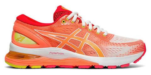 Asics Gel Nimbus 21 кроссовки для бега женские коралловые