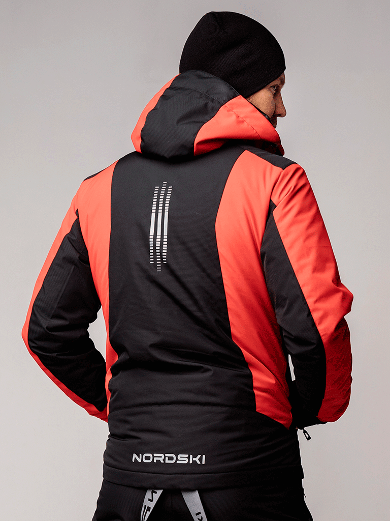 Nordski Extreme горнолыжная куртка мужская black-red - 3