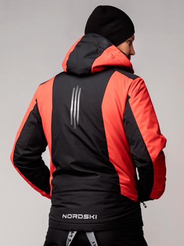 Nordski Extreme горнолыжная куртка мужская black-red