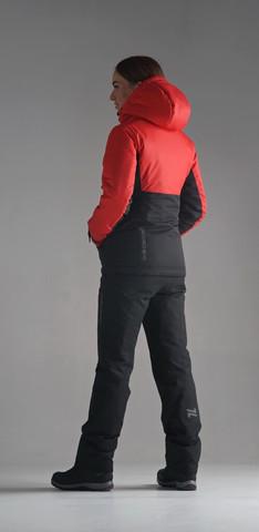 Nordski Montana зимний лыжный костюм женский красный-черный