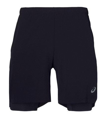 """Asics 2 In 1 7"""" Short шорты беговые мужские черные"""