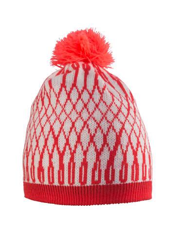 Лыжная шапка Craft Snowflake красно-белая