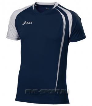 Asics T-shirt Fan Man футболка волейбольная dark-blue